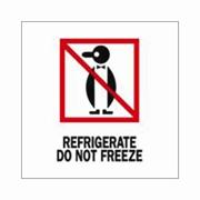 "3x4""Refrigerate Do Not Freeze (penguin) Label rl/500"