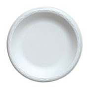 "Quiet Classic® White Extra Strength Foam Plate 9"" cs/500"