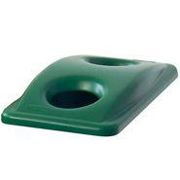 Green Bottle & Can Recycling Top for Slim Jiml® Recycling Container 23-gal. 1/ea