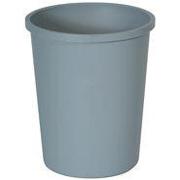 Untouchablel® Round Waste Containers 44-3/8 qt. (Gray) 1/ea