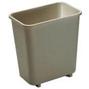 Deskside Plastic Wastebaskets 8-1/8 qt. (Beige) 1/ea