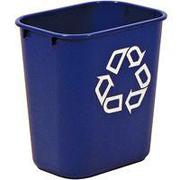 Deskside Paper Recycling Containers 13-5/8 qt. (Blue) 1/ea