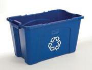 Recycling Box 18-gal. (Blue) 1/ea