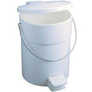 Fire-Safe Plastic Step-On Receptacle 4-1/2 gal. White 1/ea
