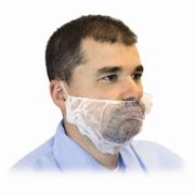 White Polypropylene Disposable Beard Covers (L) cs/1000