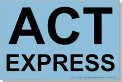 "ACT Express ID Freight Labels 4x6"" Blue Item: 132280"