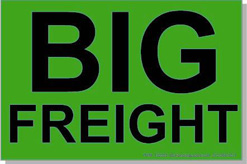 "Big Freight Systems ID Labels 4x6"" Flourescent Green Item: 132353"