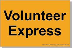 "Volunteer Express ID Freight Labels 4x6"" Flourescent Orange Item: 134178"