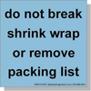 ANSI Shipping Labels Do Not Break Shrink Wrap 2-Sizes & 8-Colors