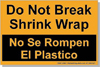 AACA Bilingual Spanish Labels Do Not Break Shrink Wrap 3-Sizes & 8-Colors