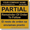 AAAX Personalized Labels Bilingual - Spanish