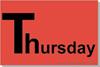 aaeu Thursday 3-Sizes & 8 Colors