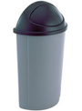 AAEL Untouchable® Half-Round Waste Containers & Lids