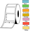 ANNY 3-in. Core Thermal   Transfer Labels - Colors  <font color=red>Ribbon Required</font>